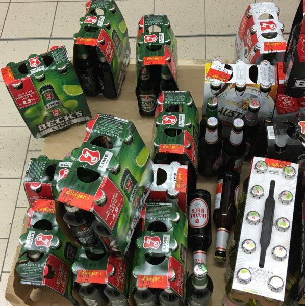 Becks Bier und cola limo brause