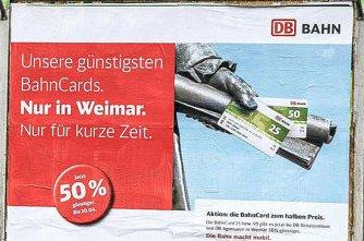 [lokal Weimar] Bahncard25 und Bahncard50 für die Hälfte