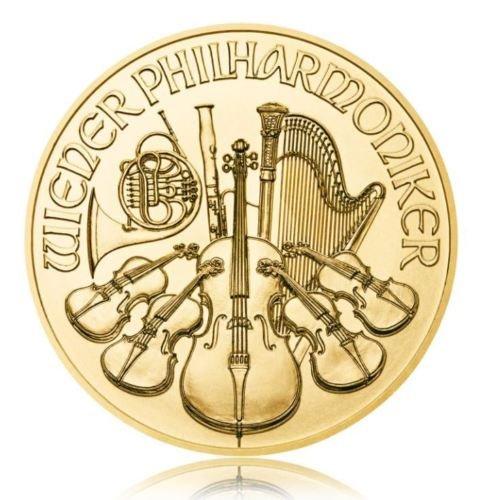 1 Unze Gold Wiener Philharmoniker knapp über Spot