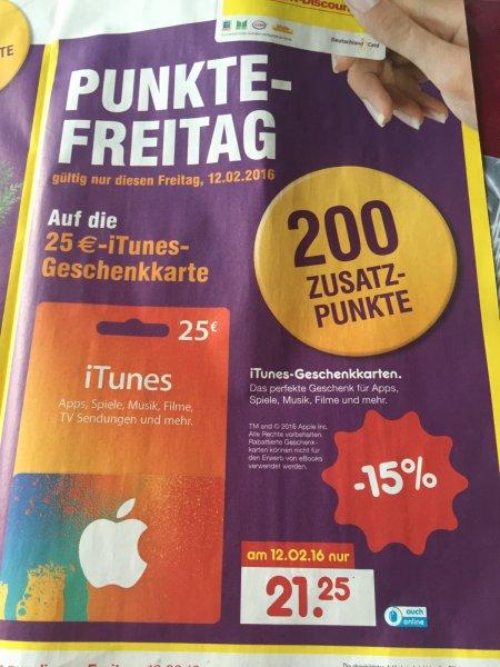 (LOKAL?) NETTO MD - Itunes 25€ für 19,25€