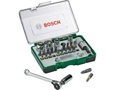 Bosch 27-teiliges Schrauberbit- und Ratschen-Set, 12.95€