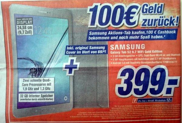 [expert Klein] Samung Galaxy Tab S2 9.7 Wifi Gold Edition 399.-€ inkl. original Samsung Cover im Wert von 41,99€