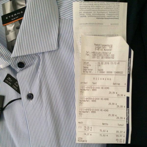 [Münster] P&C Hemden Olymp/Eterna für 29,99€