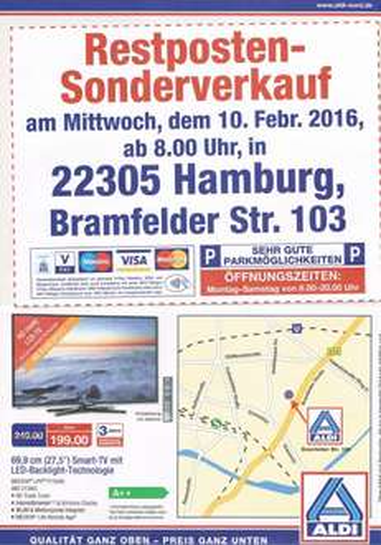 [Lokal Aldi Nord Hamburg] Restposten-Sonderverkauf Aldi Bramfelder Str. z.B. AC-WLan Verstärker 13€!!