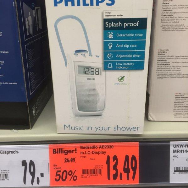 13,49€ Philips Duschradio AE2330 [Kaufland] Velbert
