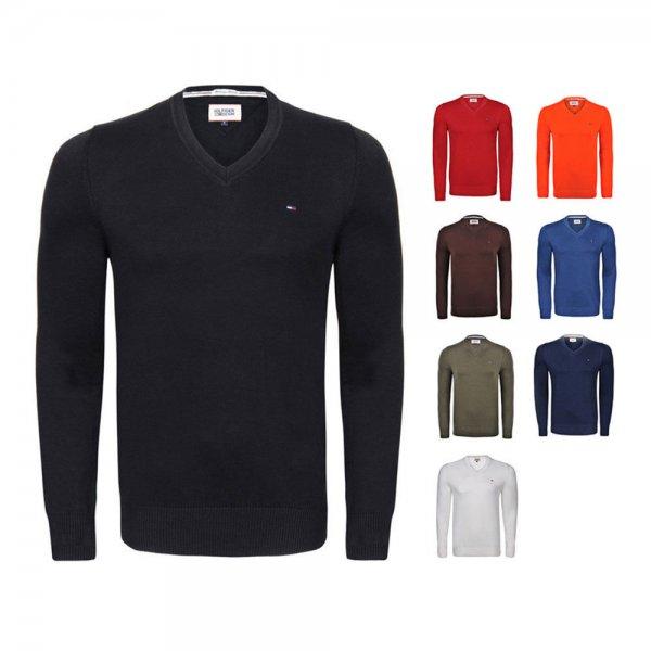 Hilfiger Pullover Custom Fit V-Ausschnitt in 8 versch. Farben 15-20% unter Idealo