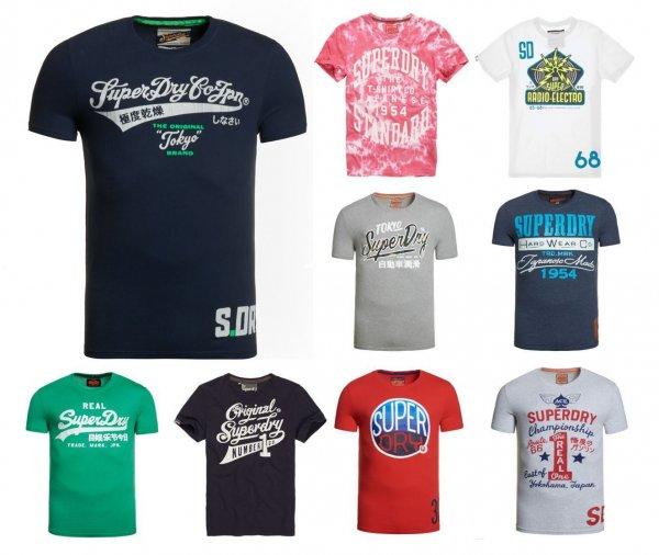 Superdry Herren T-Shirts über 70 Modelle wieder verfügbar