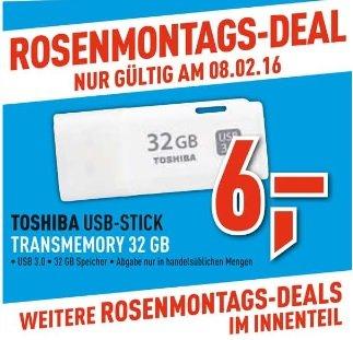 [Berlet] Toshiba USB-Stick 3.0 weiß Transmemory 32 GB