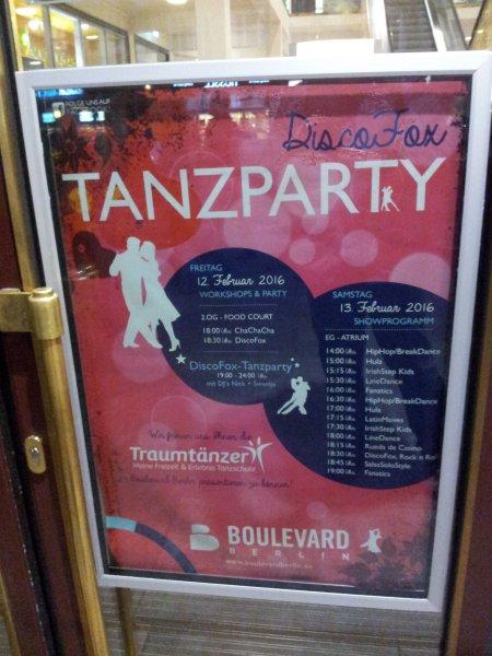 [BERLIN-Steglitz] DISCOFOX-Tanzparty kostenlos + Workshops + Vorführungen 12./13.Februar