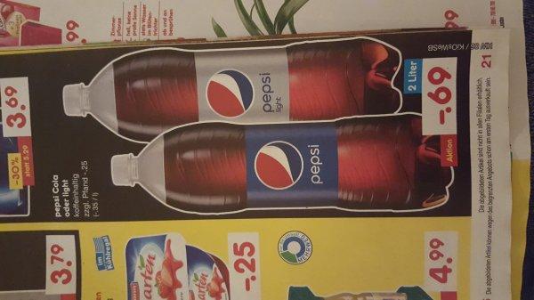 Netto ohne Hund: 2 Liter Pepsi Cola oder Light für 0,69 € ab dem 11.02.2016