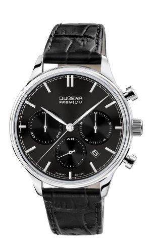 Dugena Herren-Armbanduhr SIGMA CHRONO Chronograph Quarz Leder 7000201 @Amazon.de