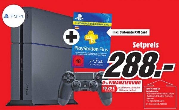 (Lokal) PS4 500GB (CUH-1216A) + 90T PS Plus für 288€ @ Mediamarkt Bielefeld