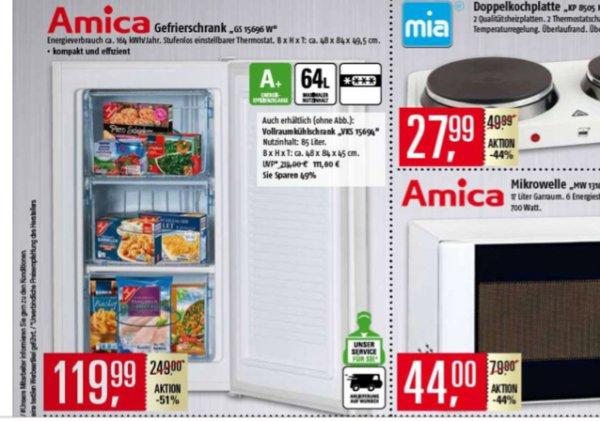 [Marktkauf] Amica Gefrierschrank A+ GS 15696