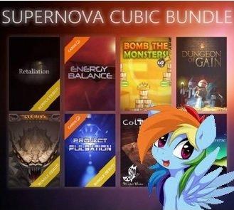 (STEAM) Supernova Cubic Bundle (8 Spiele / 3x Steamkarten & 3x Bundle Debut Games)