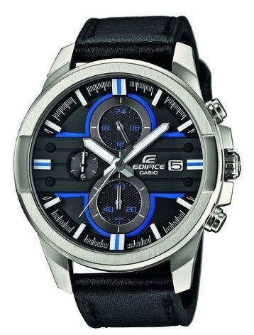 [elektroshopwagner.de] Casio Edifice EFR-543L-1AVUEF Herren Edelstahl-Chronograph mit Lederarmband für 74,95€ incl.Versand!