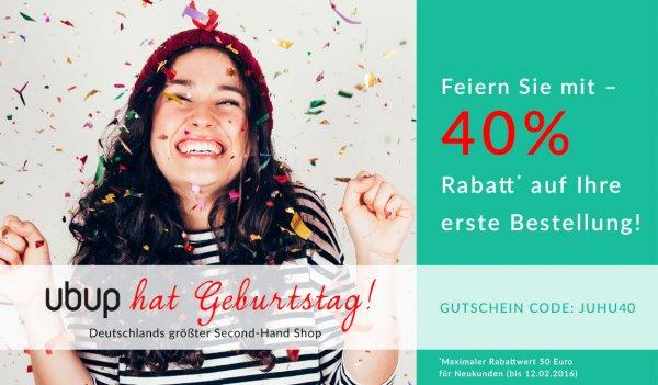 Ubup Geburtstagsspezial: über 70% Rabatt möglich auf erste Bestellung auch Sale-Ware