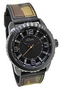 s.Oliver Herren-Armbanduhr XL Analog Quarz Kautschuk @mp Amazon mehrere Modelle