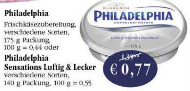 [Sky Coop Supermärkte] Philadelphia Luftig & Locker mit Scondoo für 0,27 Euro
