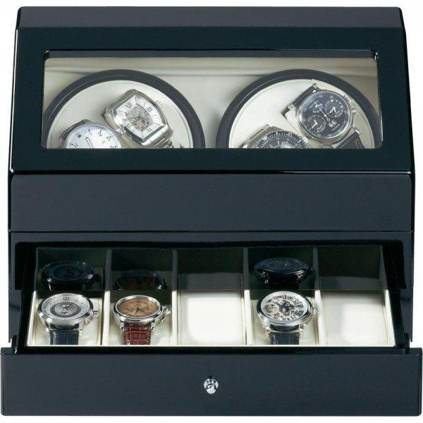 [2% Qipu] 4fach Uhrenbeweger mit Schublade für 5 weitere Uhren als Blitzangebot zum Preis von 139,99€ frei Haus @Völkner