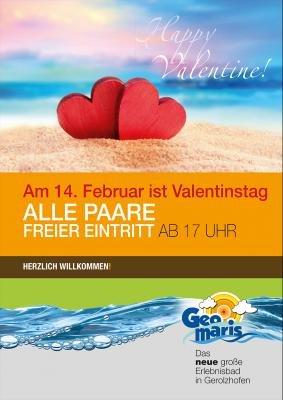 [Geomaris Gerolzhofen] Freier Schwimmbad und Sauna-Eintritt am 14.02. für alle Paare ab 17 Uhr