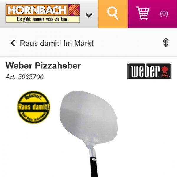 Weber Pizzaheber bei Bauhaus mit TPG