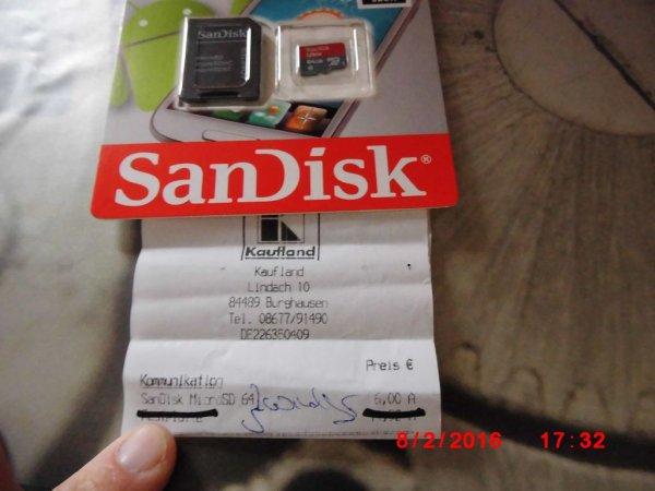 Lokal Kaufland Burghausen SanDisk Ultra microSDXC 64GB mit Adapter für 6 €