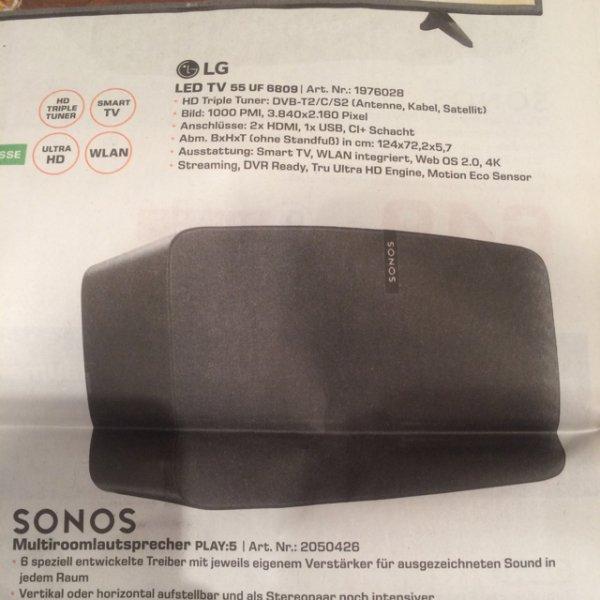 Sonos Play:5 2.Generation [Saturn Essen, Mülheim, Oberhausen]