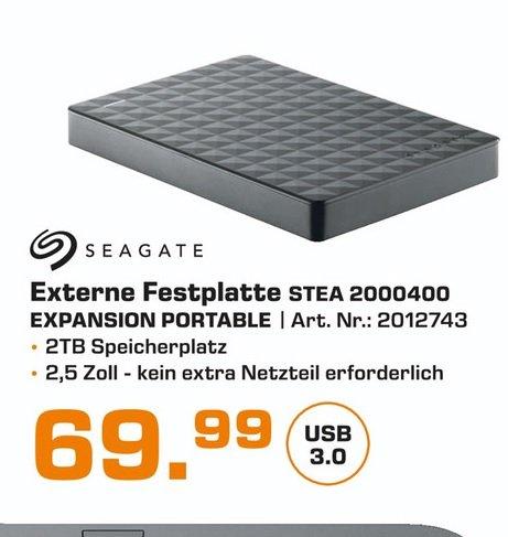 "(Lokal) Seagate Expansion Portable 2TB 2,5"" für 69€ (Ausbaubar für die PS4) @ Saturn Bocholt"