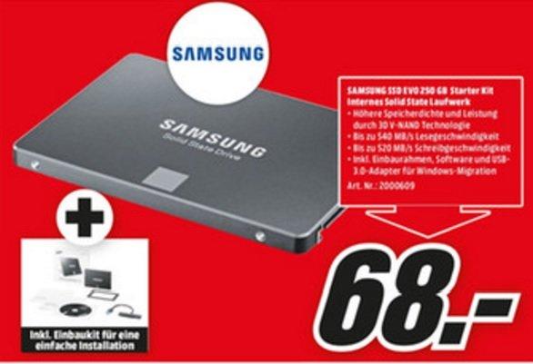 (Lokal) Samsung 850 Evo 250GB für 68€ @ Mediamarkt Duisburg