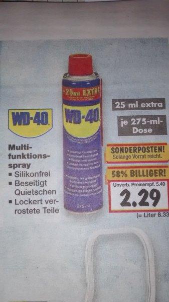 [Kaufland bundesweit] WD-40 275ml Dose für 2,29€