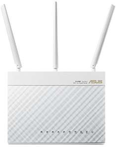 ASUS RT-AC68U AC1900 in weiß für 139€ - Dual-Band Power WLAN Router (802.11 a/b/g/n/ac, Gigabit LAN/WAN, USB 3.0, Print FTP UPnP VPN Server, IPv6, 8x SSID, AiRadar