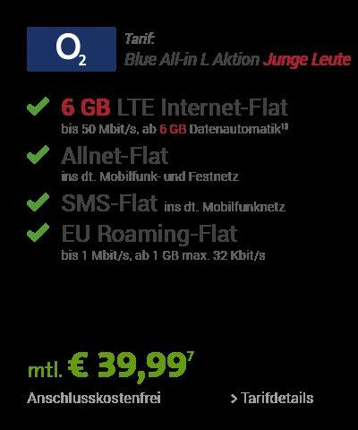 [sparhandy] o2 Blue All-in L 3GB bzw. 6GB für junge Leute + iphone 6 16GB oder 64GB