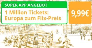 FlixBus - 1.000.000 Tickets für 9,99€ nach Europa (Reisezeitraum Februar bis März)