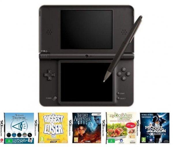 Nintendo DSi XL Braun + 5 Spiele für 89,95€ bei Coolshop.de