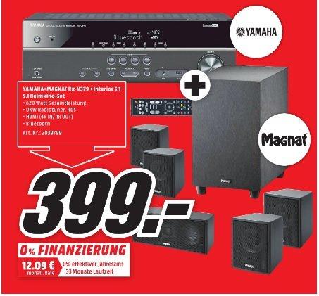 [Lokal?] Media Markt Wuppertal - YAMAHA RX-V379 + Magnat Interior 5.1X 5.1 System