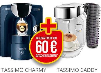 [Amazon] Bosch Tassimo T55 Charmy Multi-Getränke-Automat inkl. 60€ Gutschein für den Tassimo Shop für 49,99€