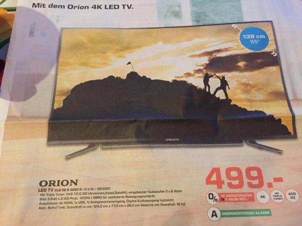 "[Lokal Saarbrücken?] Orion LED TV 55"" 4k 400Hz CI+ HD Triple Tuner CLB55B4550S für 499€"