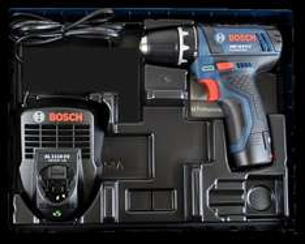 Bosch blau GSR 10,8-2-LI Professional Akkuschrauber mit 2 Ah Akku, Ladegerät, i-Boxx Einlage