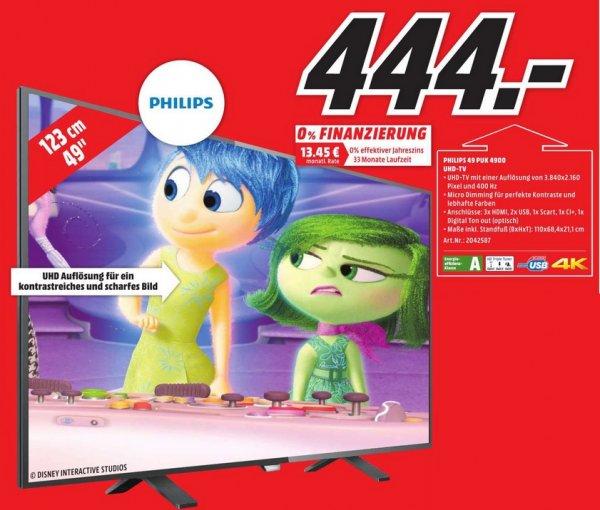 "[lokal - Media Markt Berlin] PHILIPS 49"" Fernseher 49PUK4900 - 444 Euro - UHD 4K - Triple Tuner"