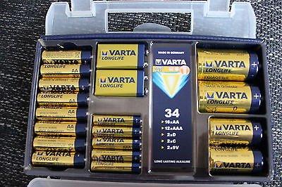 [Kaufland Rostock/Bentwisch] Varta Batterie Koffer mit 34 Batterien für 5€