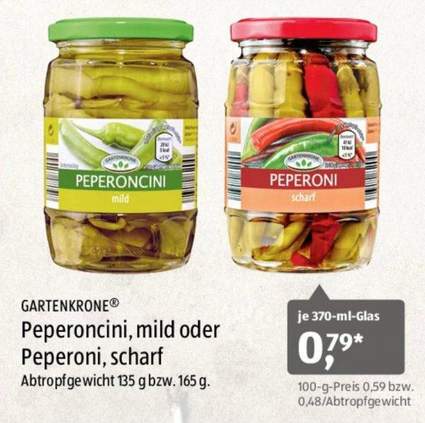 [Aldi-Süd] Peperoncini, mild oder Peperoni, scharf 370ml für jeweils 0,79€ ab 15.02.2016
