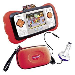 VTech MobiGo Deluxe Bundle Kinderspiel- und Lernkosole (inkl. Tasche und Autoadapter) und Lernspiel Cars 2 für 29 € @ real.de