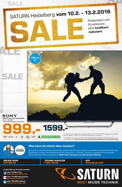 [Lokal Heidelberg Sammeldeal] Saturn Restposten Sale - Sony KD 55X8505 CBAEP