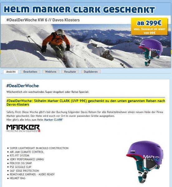 Bei Buchung eines Skiurlaubs Helm geschenkt