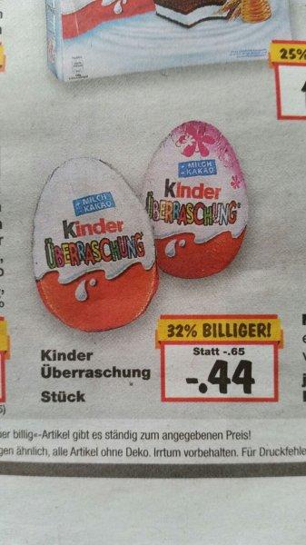 (Kaufland ) Bundesweit Ü-Ei für 44 Cent ab 15.2.-20.2.2016
