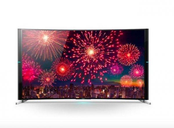 Sony KD-75S9005 Curved Fernseher (75 Zoll 190cm, 4K, 3D Aktiv, 800Hz, Smart TV, 2x DVB-T/-T2/-C/-S/-S2, 4x HDMI, WLAN, NFC für 4.419€ bei Cyberport Filialen