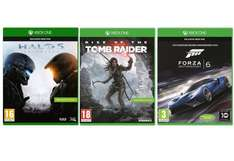 Halo 5 + Rise of the Tomb Raider + Forza Motorsport 6 (Xbox One) für 91,69€ bei Amazon.it