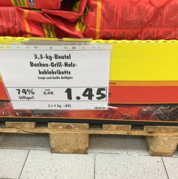 [lokal]ProFagus Buchen Grill-Holzkohle Briketts 3,3 kg in 09599