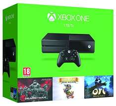 Xbox One 1TB Konsole + Gears of War: Ultimate Edition + Rare Replay (15 Spiele) + Ori and the Blind Forest für 353,03€ bei Amazon.es