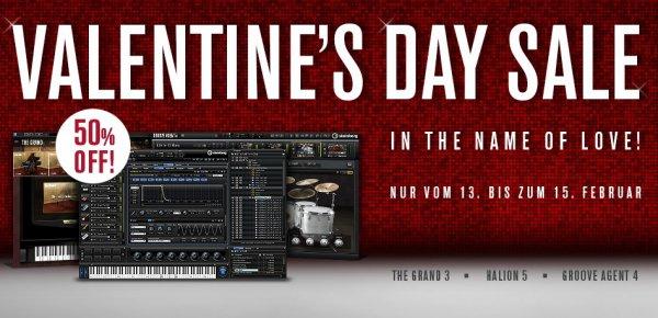 [Steinberg Valentines Day Sale] 50% Rabatt: Grand 3 für 89,50€, Halion 5 für 174,50€ und Groove Agent 4 für 89,50€
